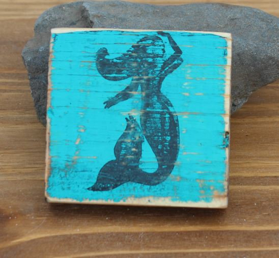Mermaid Wooden Plaque - Small