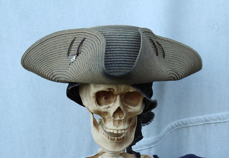 Dirty Tan Woven Tricorne Hat