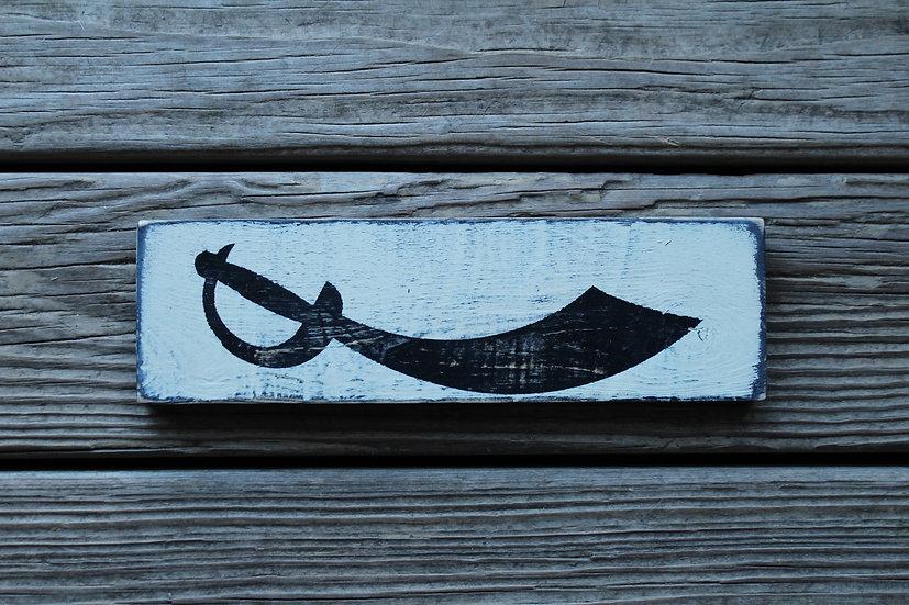 Sword Wooden Plaque