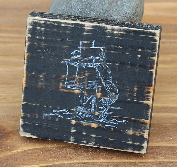 Ship Wooden Plaque - Small
