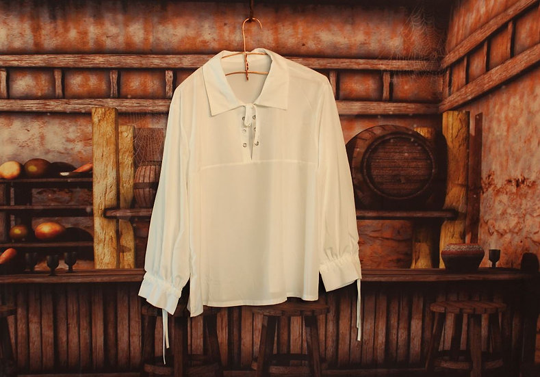 White Scottish Jacobite Shirt