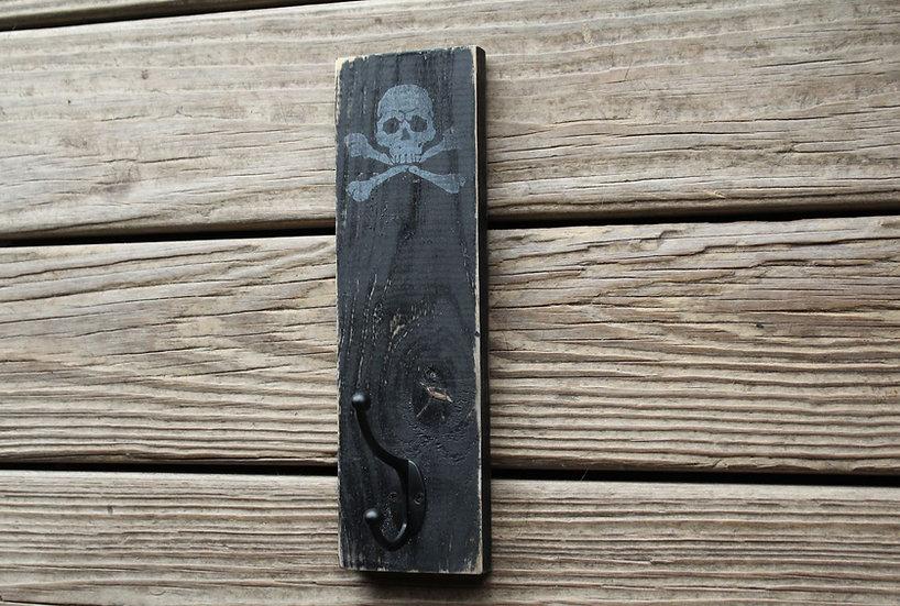 Coat Hanger - Skull N Bones on Black