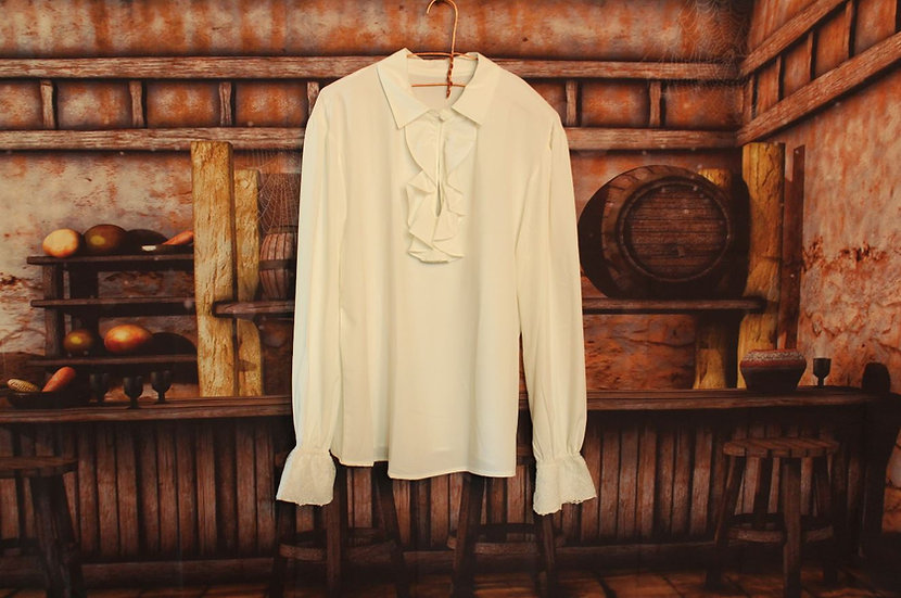 White Pirate Dress Shirt