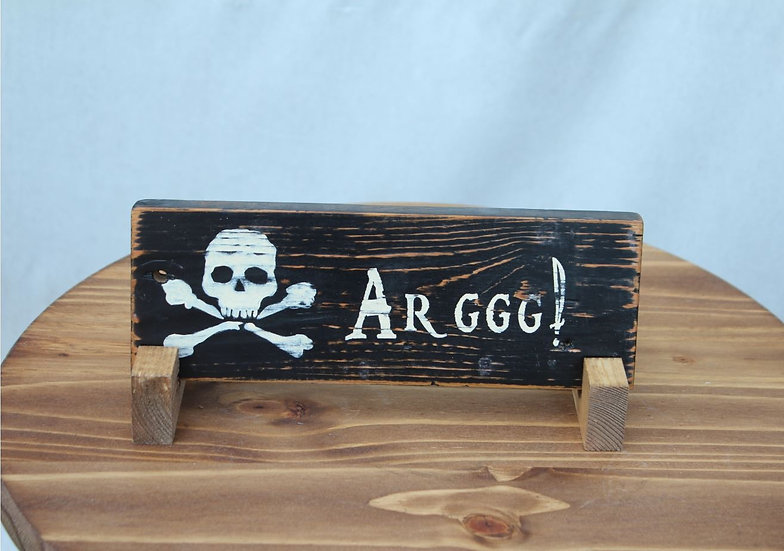 Arggg N Bones Wooden Plaque
