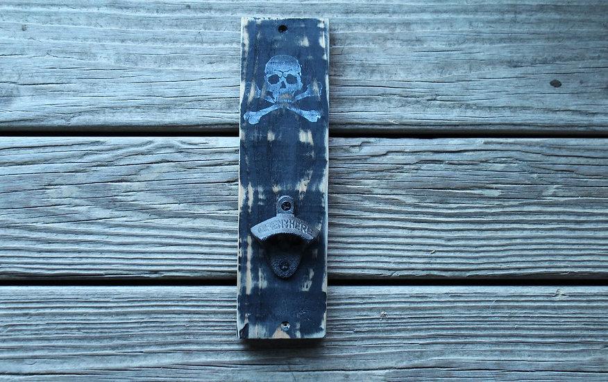 Bottle Opener - Skull N Bones on Black