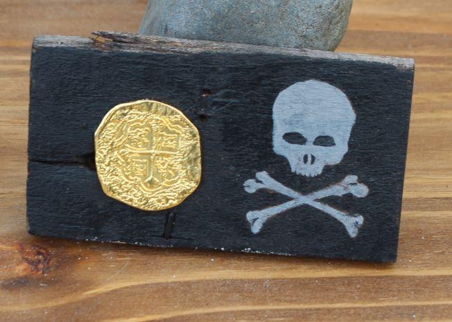 Bones N Coin Small Wooden Plaque