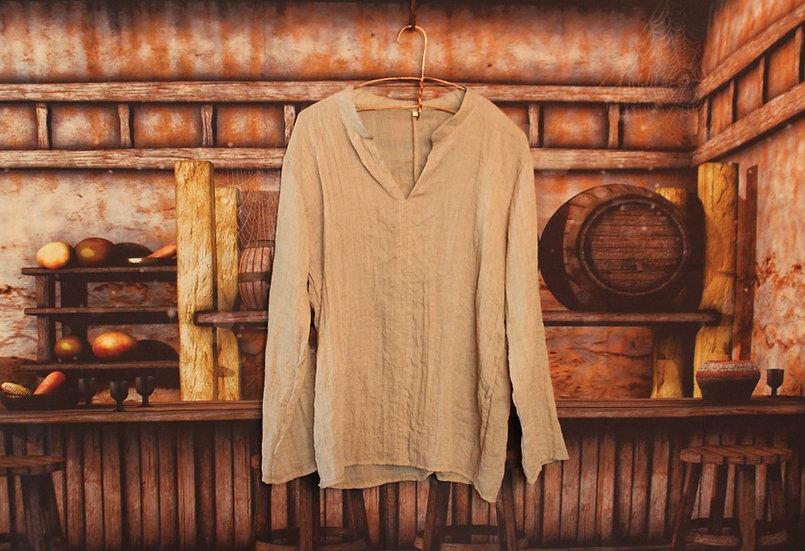 Linen Shirt - Tan