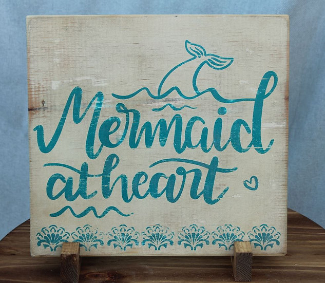 Mermaid at Heart - Wooden Plaque