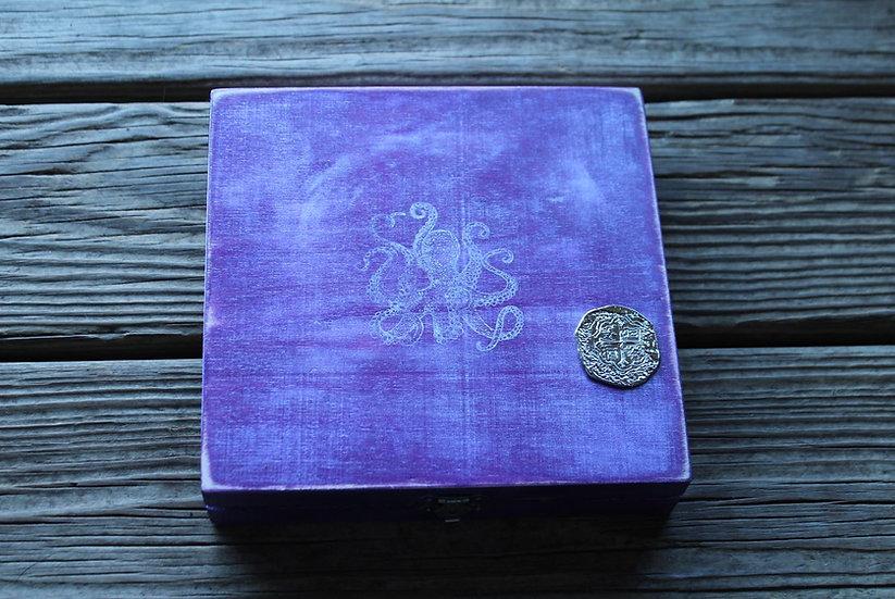Purple Wooden Storage Box
