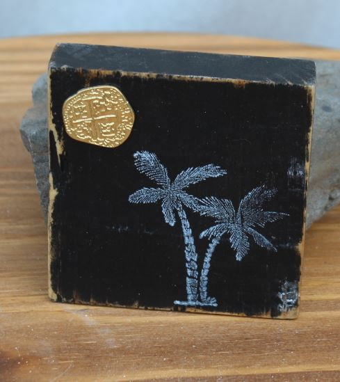 Palm Tree Wooden Plaque - Small