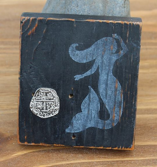 Mermaid with Coin Wooden Plaque - Small