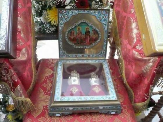 В Екатеринбург доставят ковчег с мощами святых мучеников Киприана и Иустинии