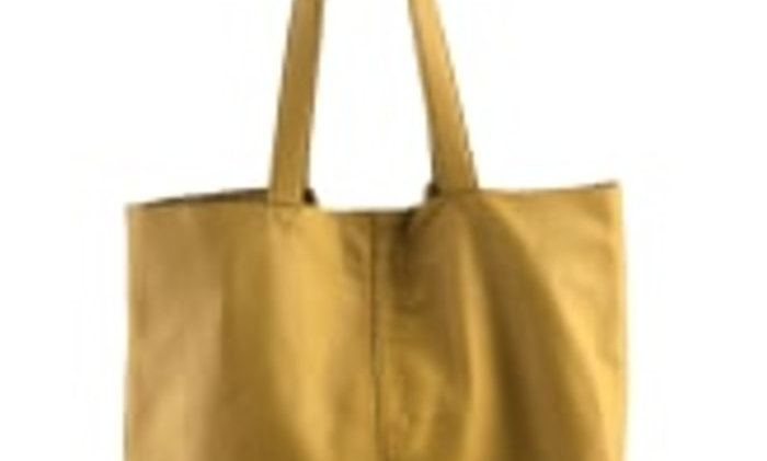 Black Colour leather Tote bag