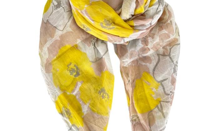 Black Colour Buttercup scarf