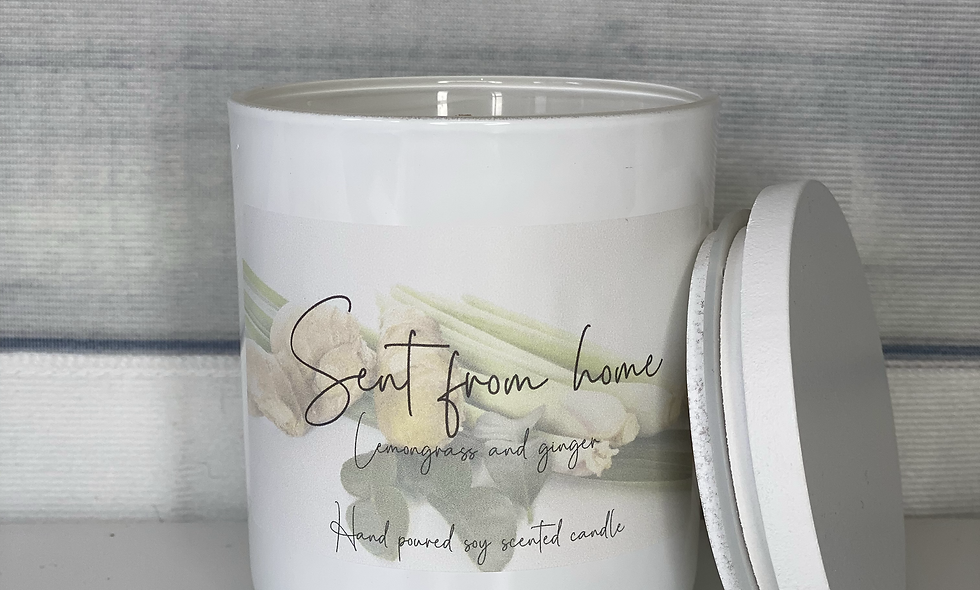 Scent From Home Candle - Lemongrass and Ginger