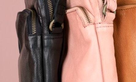 Black Colour Denise leather bag