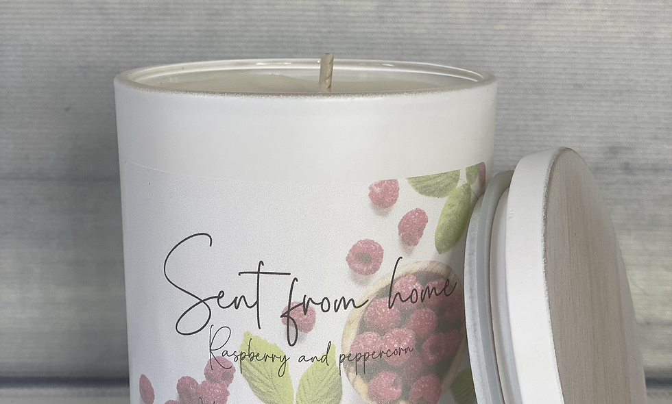 Scent From Home Candle - Raspberry and Blackpepper