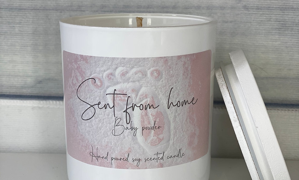 Scent From Home Candle - Baby Powder
