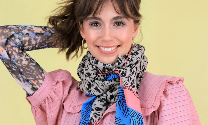 Black Colour Anine candy scarf
