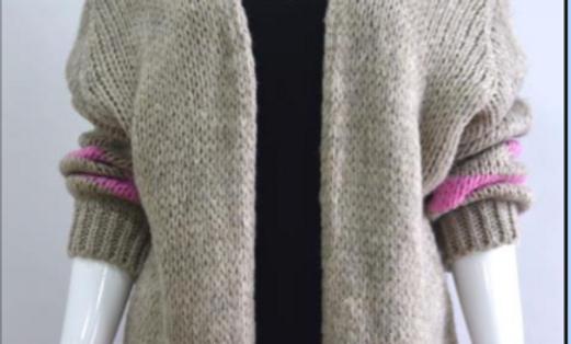 Miss Sugar chunky stripe knit cardigan