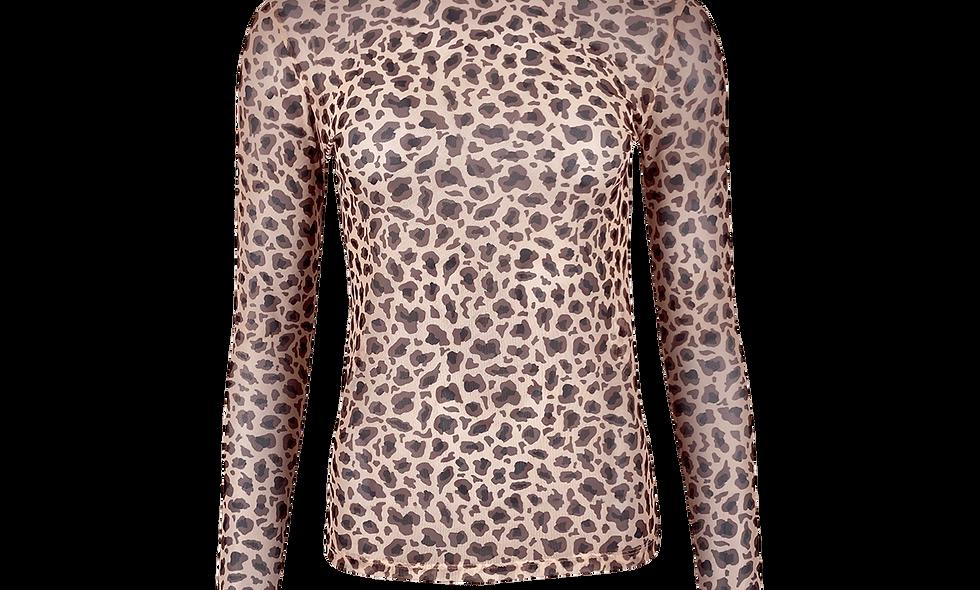 Black Colour mesh blouse nude Leo