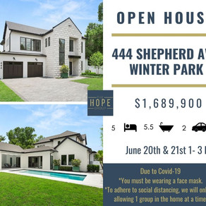 Father's Day Weekend Open Houses
