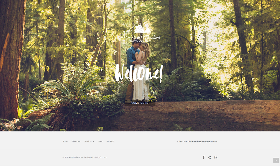 photographer custom website design wordpress