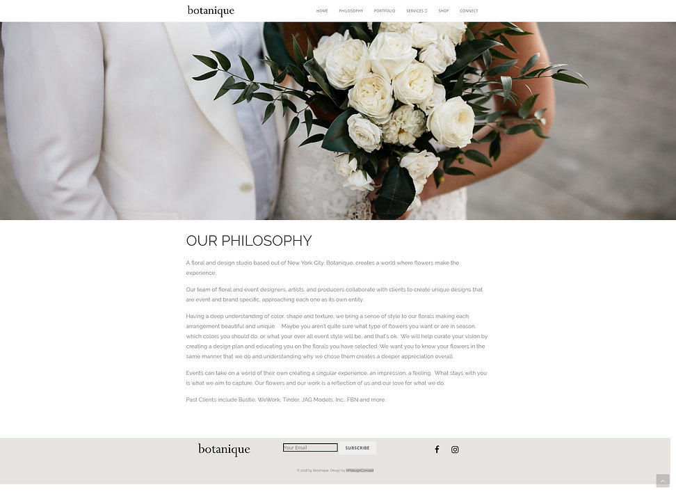 custom wordpress web design for flor