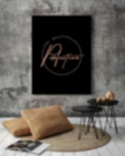 rose gold logo design graphic service