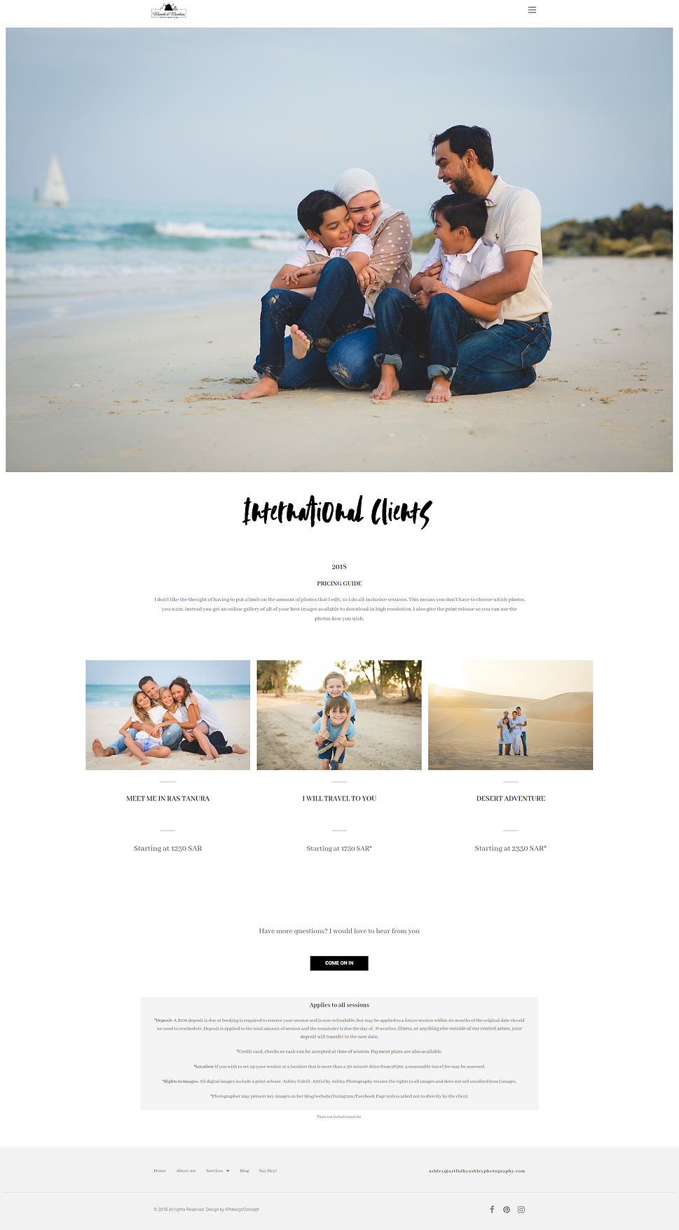 photorapher custom website design respon