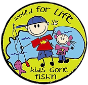 Hooked for life kids gone fish'n logo