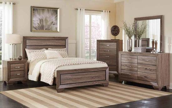 Queen Contemporary wood bed