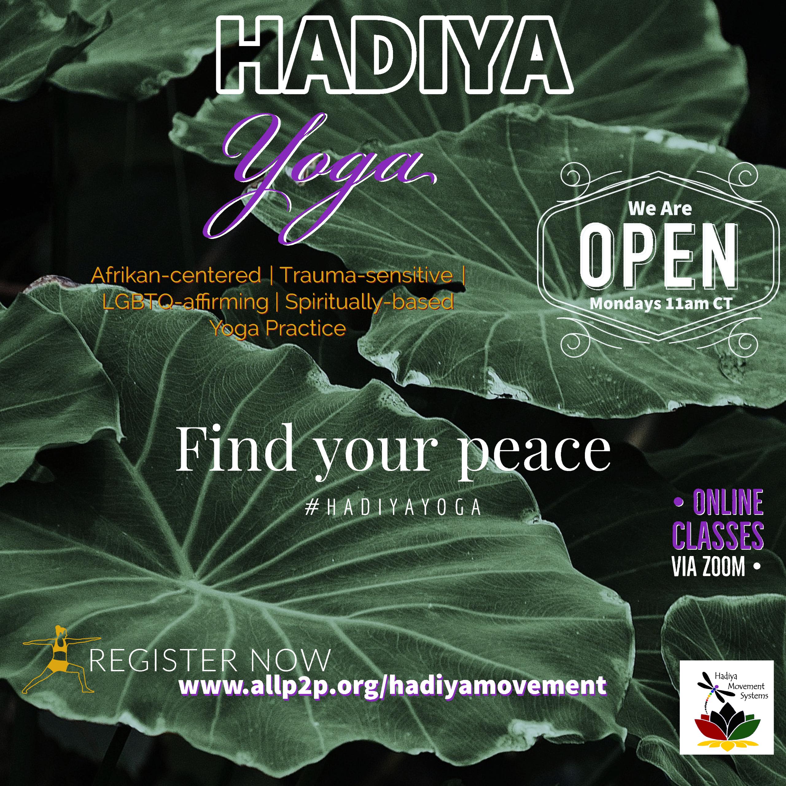 Hadiya Yoga   1-on-1