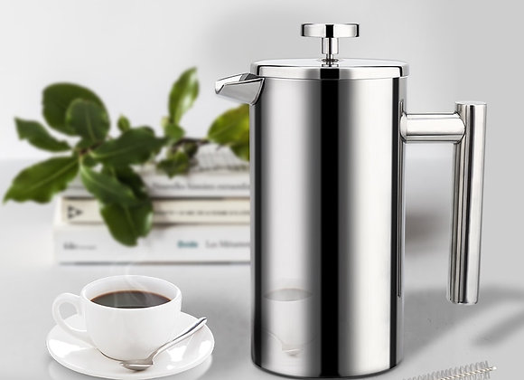 Stainless Steel French Press   Double-Wall Insulated