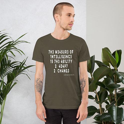 1NT3LL1G3NC3 - Short-Sleeve Unisex T-Shirt