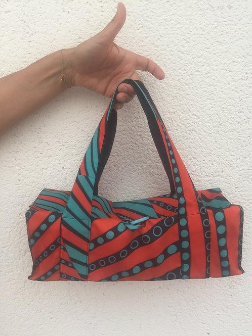 sac à main sac à tarte wax géométrique cuisine rouge
