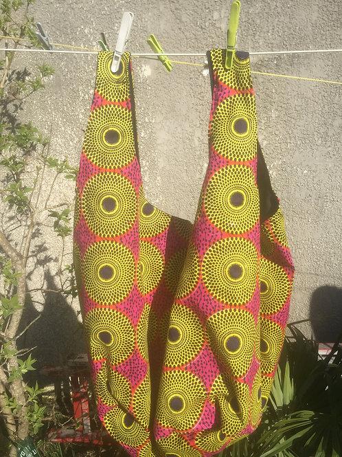 sac de plage wax africain coton coloré fourre-tout cadeau grain de sable