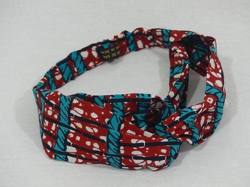 Bandeaux pour cheveu headbands coton marron turquoise wax bandana coiffure fait main wax