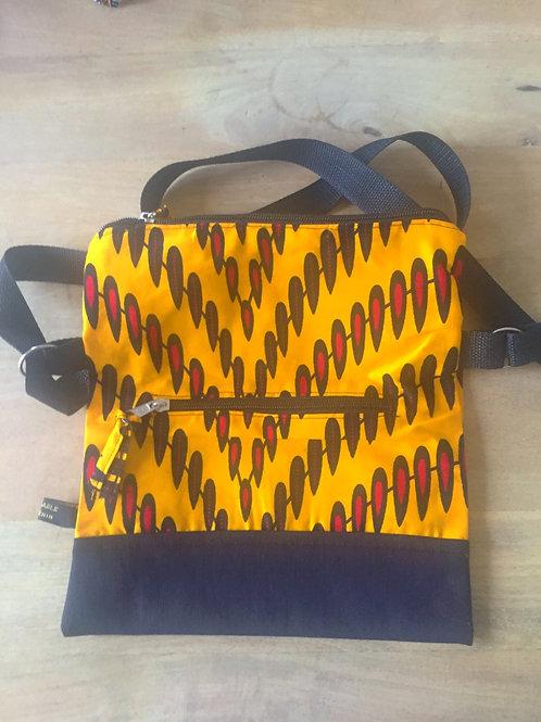 sac à main en bandoulière africain wax boubou coton