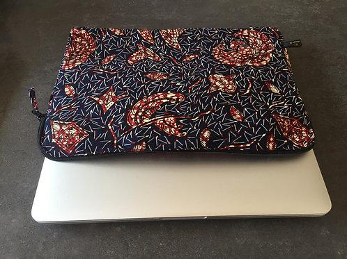 pochette ordinateur portable tissu africain coloré