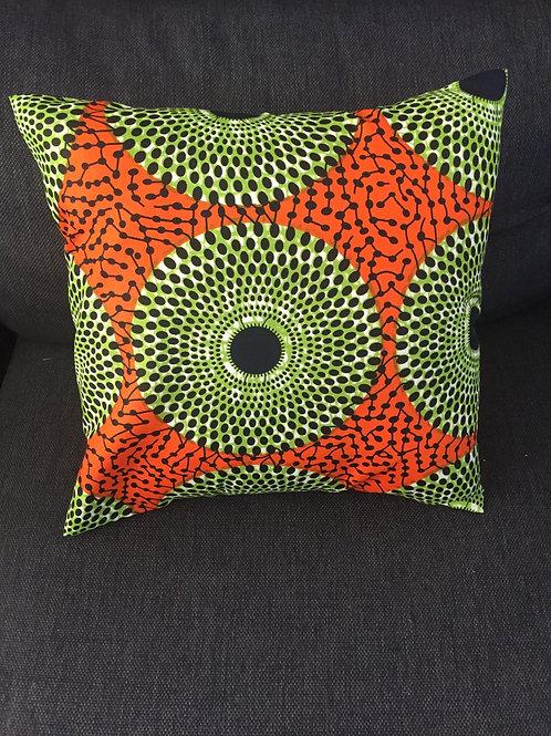 coussin canapé salon tissu africain boubou décoration ameublement coton  pagne  lavable en machine grain de sable