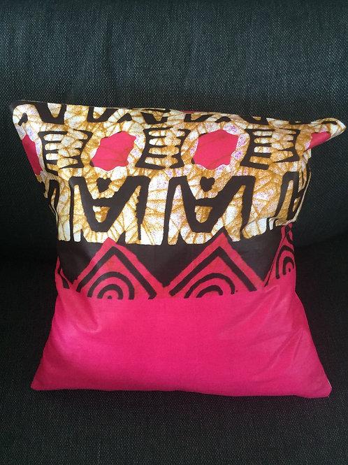 housse de coussin tissu africain canapé fait main cadeau fauteuil salon