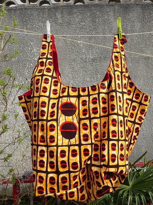 sac plage fourre tout wax africain sac de course sac de sport