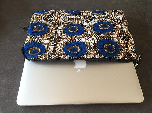 pochette ordinateur portable 13 pouces tissu africain
