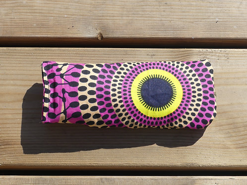 étui à lunettes wax tissu africain