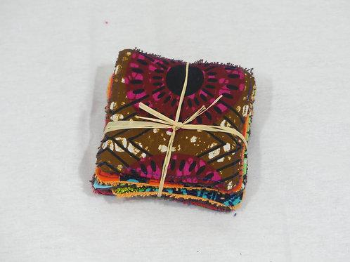 lingettes démaquillantes wax coton boubou écologiques éponges colorées zéro déchet
