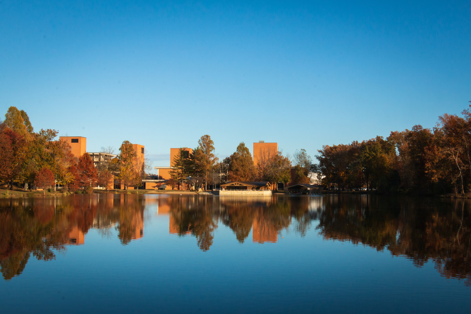 Reflection on Campus Lake at SIU Carbondale