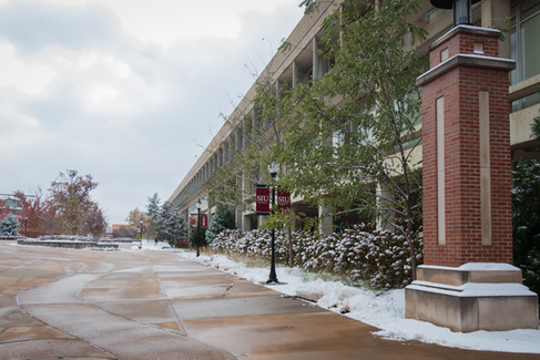 SIU Carbondale Campus with snow