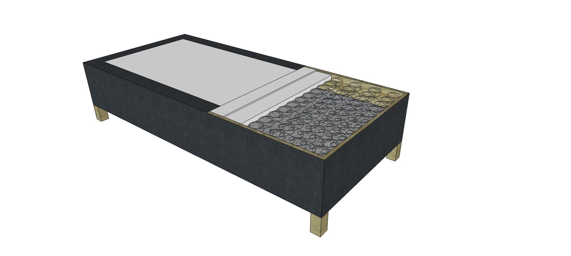 FIXBOX34 boxspring ágy