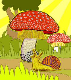 Fly Agaric and snail
